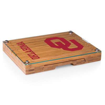Oklahoma Sooners Concerto Bamboo Cutting Board   Picnic Time   919-00-505-454-0