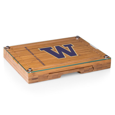 Washington Huskies Concerto Bamboo Cutting Board | Picnic Time | 919-00-505-624-0