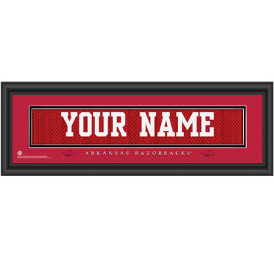 Arkansas Razorbacks Personalized Jersey Stitch Print | Get Letter Art | ARKJERS