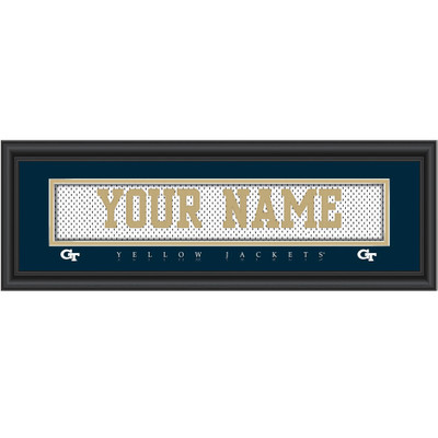 Georgia Tech Yellow Jackets Personalized Jersey Stitch Print | Get Letter Art | GATCJERS