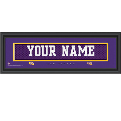 LSU Tigers Campus Personalized Jersey Stitch Print | Get Letter Art | LSUJERS