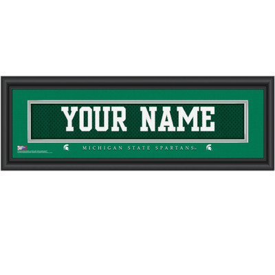 Michigan State Spartans Personalized Jersey Stitch Print | Get Letter Art | MICHSTJERS