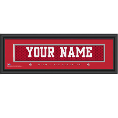 Ohio State Buckeyes Personalized Jersey Stitch Print | Get Letter Art | OHIOJERS