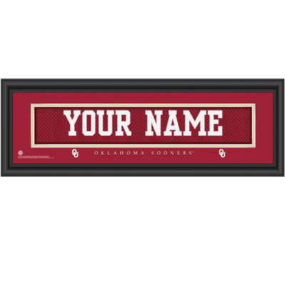 Oklahoma Sooners Personalized Jersey Stitch Print | Get Letter Art | OKLAJERS
