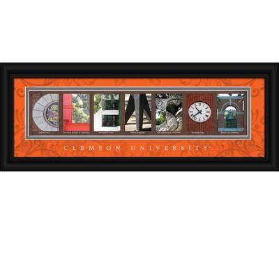 Clemson Tigers Letter Art | Get Letter Art | CLAL1B18CLEM
