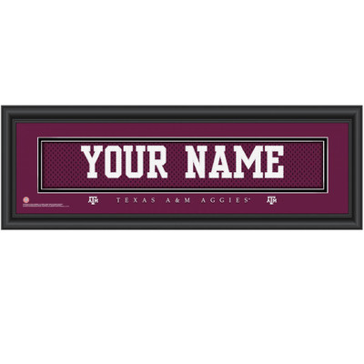 Texas A&M Aggies Personalized Jersey Stitch Print | Get Letter Art | TEXAMJERS