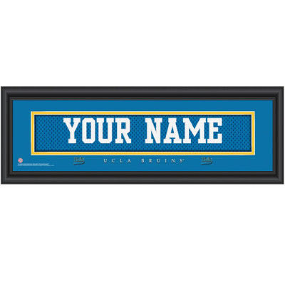 UCLA Bruins Personalized Jersey Stitch Print | Get Letter Art | UCLAJERS