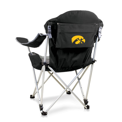 Iowa Hawkeyes Reclining Camp Chair | Picnic Time | 803-00-175-224-0