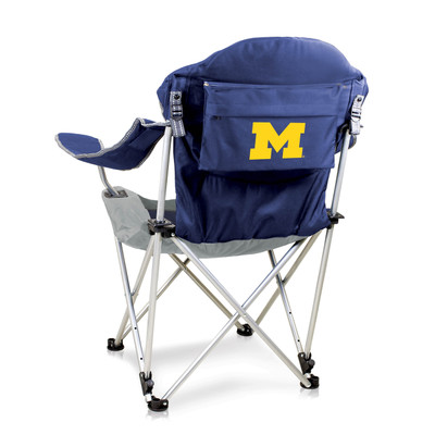 Michigan Wolverines Reclining Camp Chair | Picnic Time | 803-00-138-344-0