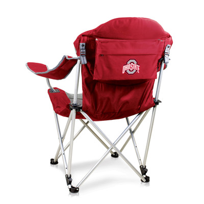 Ohio State Buckeyes Reclining Camp Chair   Picnic Time   803-00-100-444-0