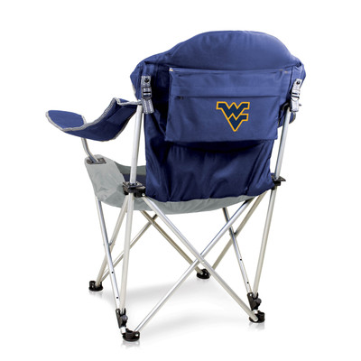 West Virginia Mountaineers Reclining Camp Chair | Picnic Time | 803-00-138-834-0
