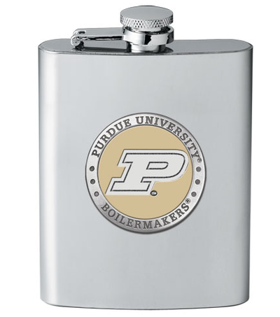 Purdue Boilermakers Flask | Heritage Pewter | FSK10222EY