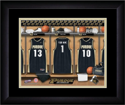 Purdue Boilermakers Personalized Locker Room Print | Get Letter Art | MLR13FBBCBPURD