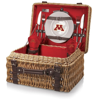 Minnesota Golden Gophers Red Champion Picnic Basket | Picnic Time | 208-40-100-364-0