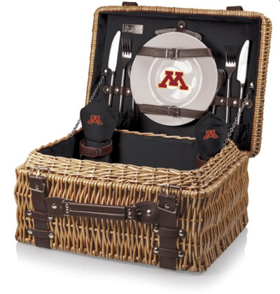 Minnesota Golden Gophers Black Champion Picnic Basket | Picnic Time | 208-40-179-364-0