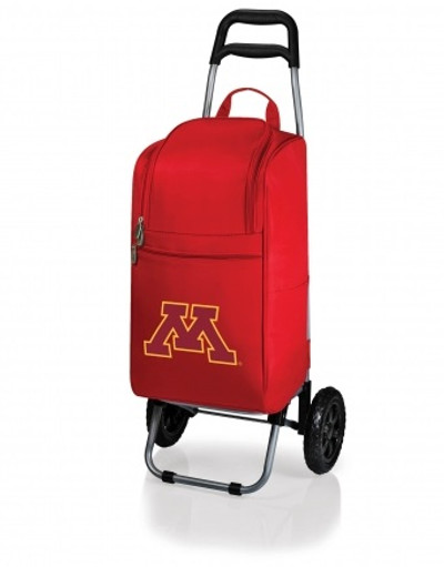 Minnesota Golden Gophers Red Rolling Cart Cooler | Picnic Time | 545-00-100-364-0
