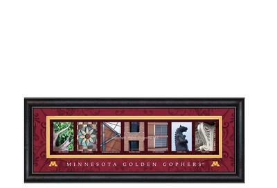 Minnesota Golden Gophers Campus Letter Art | Get Letter Art | CLAL2B18MINN