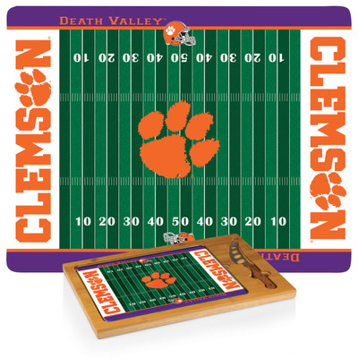 Clemson Tigers Icon Cheese Tray | Picnic Time | 910-00-505-104-0