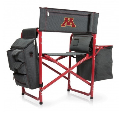 Minnesota Golden Gophers Fusion Tailgating Chair | Picnic Time | 807-00-600-364-0