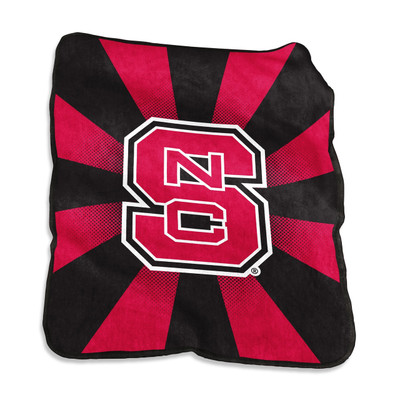 NC State Wolfpack Raschel Throw Blanket | Logo Chair | 186-26