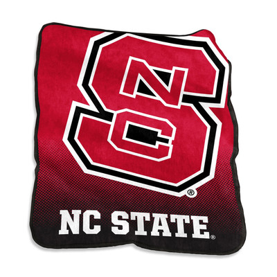 NC State Wolfpack Logo Raschel Throw Blanket | Logo Chair | 186-26A