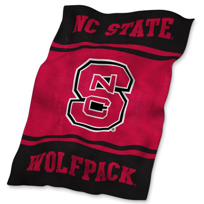 NC State Wolfpack Ultrasoft Blanket | Logo Chair | 186-27