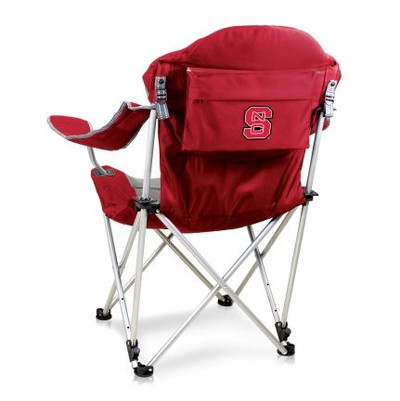 NC State Wolfpack Reclining Camp Chair - Red   Picnic Time   803-00-100-424-0