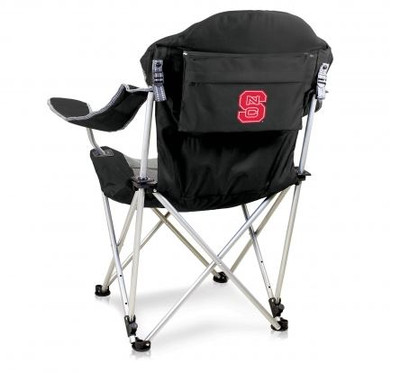 NC State Wolfpack Reclining Camp Chair - Black | Picnic Time | 803-00-175-424-0