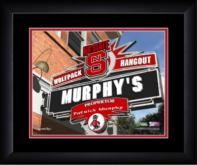 NC State Wolfpack Personalized Pub Print | Get Letter Art | PSH13FBBCFNCSR