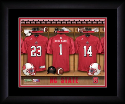 NC State Wolfpack Personalized Locker Room Print | Get Letter Art | MLR13FBBCFNCST