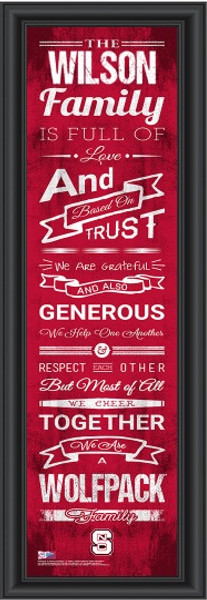 NC State Wolfpack Personalized Family Cheer Print   Get Letter Art   CCHL1B06NCSR