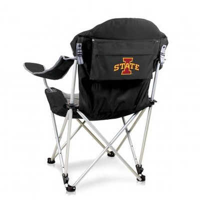 Iowa State Cyclones Reclining Camp Chair - Black | Picnic Time | 803-00-175-234-0