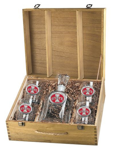 Iowa State Cyclones Decanter Box Set | Heritage Pewter | CPTB10415ER