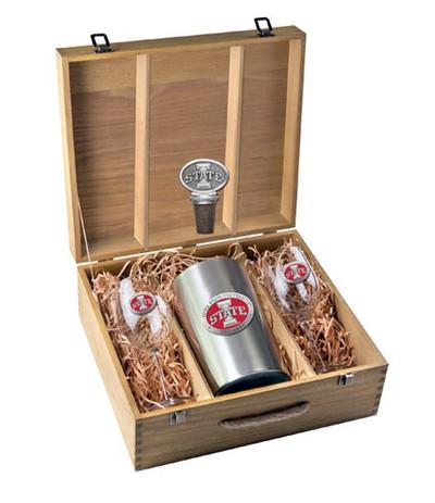 Iowa State Cyclones Wine Box Set | Heritage Pewter | WSB10415ER