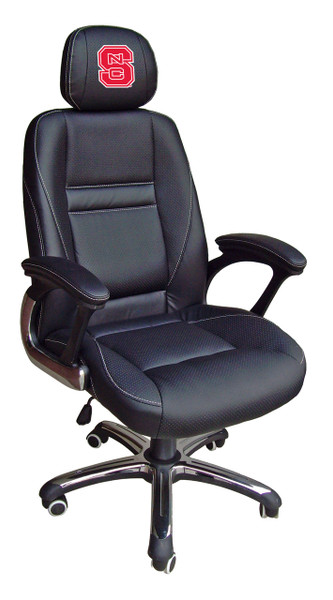 NC State Wolfpack Leather Office Chair | Wild Sports | 901C-PSU