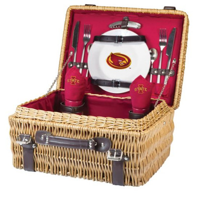 Iowa State Cyclones Champion Picnic Basket - Red | Picnic Time | 208-40-100-234-0