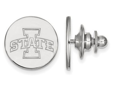 Iowa State University Logo Sterling Silver Lapel Pin   Logo Art   SS005IAS