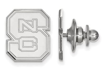 NC State University Logo Sterling Silver Lapel Pin | Logo Art | SS011NCS