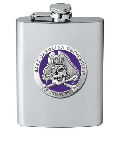 East Carolina Pirates Flask | Heritage Pewter | FSK10187EP