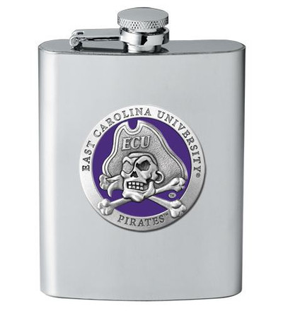 East Carolina Pirates Flask | Heritage Pewter | FSK10187EP