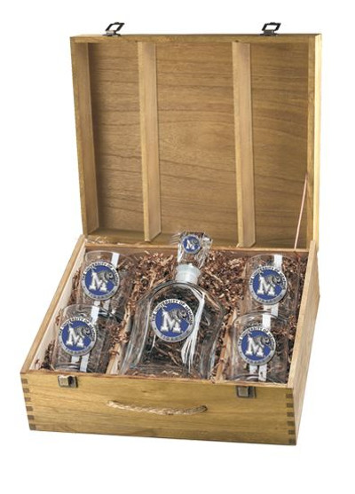 Memphis Tigers Decanter Box Set | Heritage Pewter | CPTB10320EB