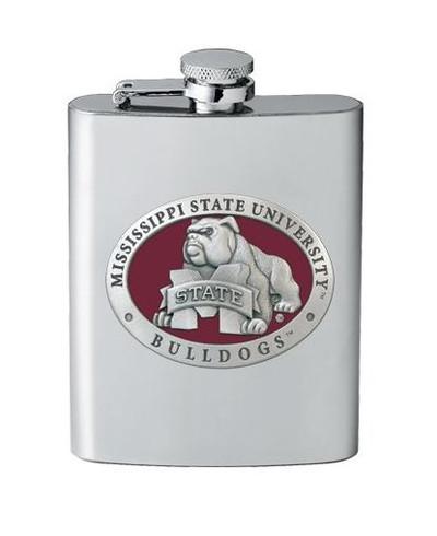 Mississippi State Bulldogs Flask | Heritage Pewter | FSK10509ER