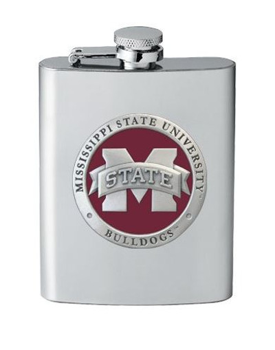 "Mississippi State Bulldogs Flask - ""M"" Logo | Heritage Pewter | FSK10293ER"
