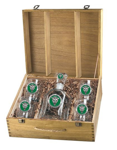 Marshall Thundering Herd Decanter Box Set   Heritage Pewter   CPTB10243EG