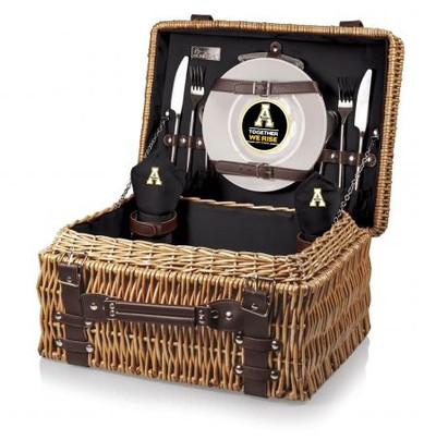 Appalachian State Mountaineers Champion Picnic Basket - Black | Picnic Time | 208-40-179-794-0