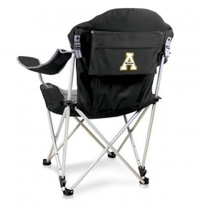Appalachian State Mountaineers Reclining Camp Chair - Black | Picnic Time | 803-00-175-794-0