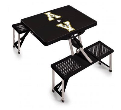 Appalachian State Mountaineers Folding Picnic Table   Picnic Time   811-00-175-794-0