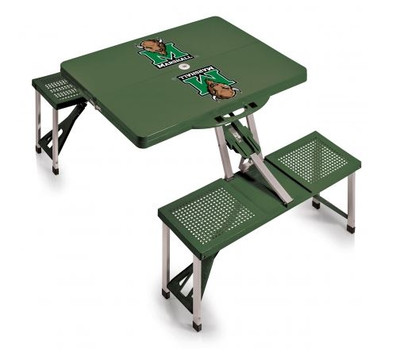 Marshall Thundering Herd Folding Picnic Table | Picnic Time | 811-00-121-894-0