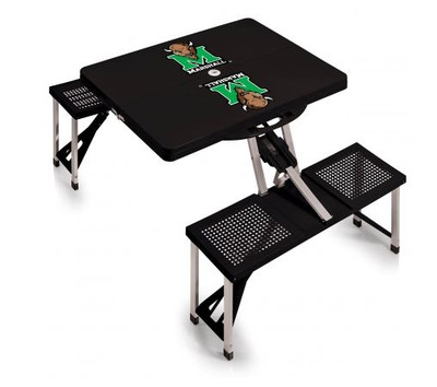 Marshall Thundering Herd Folding Picnic Table | Picnic Time | 811-00-175-894-0