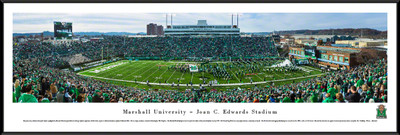 Marshall Thundering Herd Standard Frame Panoramic Photo - 50 Yard Line | Blakeway | MARU1F